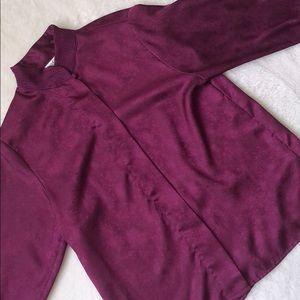 Vintage Yves St Clair mandarin collar blouse